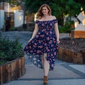 {Torrid} Off the Shoulder Floral Dress